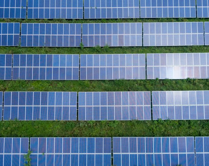 top view photo of solar panels